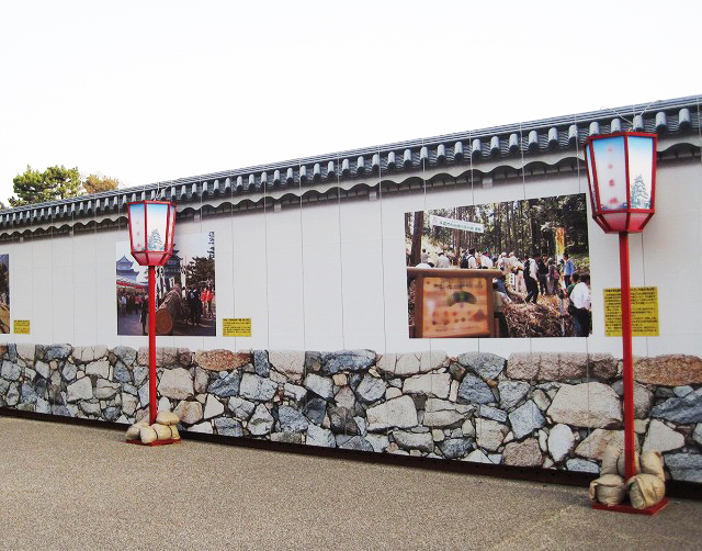 名古屋城 仮囲い装飾